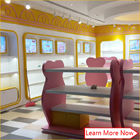 Costomized wooden no smellless painting nice colorful baby stores with lighting fornitore