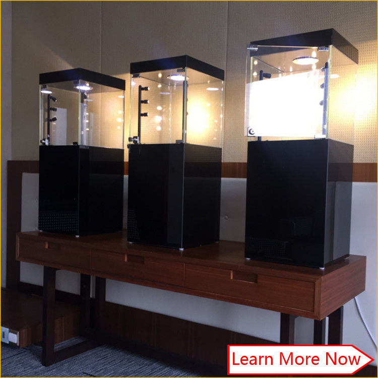 Custom modern black glass mdf cabinet for jewelry fornitore