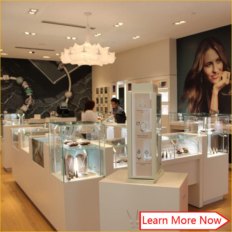 modern luxury wood glass jewellery display showcase shop showroom counter design fornitore